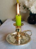 Green candle 2 Stock Image