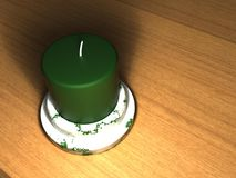 Green Candle Royalty Free Stock Photography
