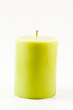 Green candle isolated Stock Photo
