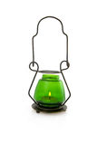 Green candle lamp Stock Image