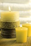 Green candles Royalty Free Stock Images