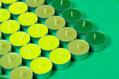 Green candles Stock Photos
