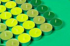 Green candles Stock Photos