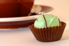 Green Candy And Coffee Royalty Free Stock Photo