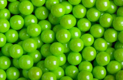 Green candy pattern, gummy ball candies for background Stock Photo