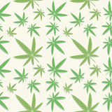 Green cannabis leaves pattern. Seamless green cannabis leaves pattern on background Stock Photo