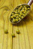 Green canned peas Royalty Free Stock Photos