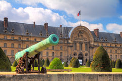 Green cannon Invalides Stock Images