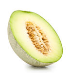 Green cantaloupe melon isolated Royalty Free Stock Image