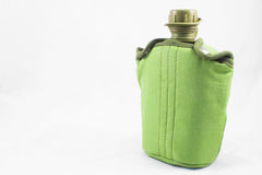 Green canteen with covering stock image