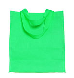 Green canvas shopping bag Royalty Free Stock Photo