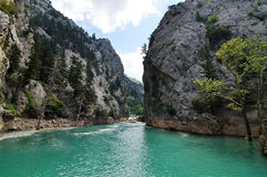 Green Canyon Lake in the mountains Stock Images