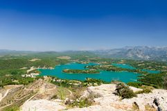 Green canyon panorama near the city of Manavgat, Turkey Royalty Free Stock Images