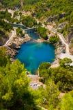 Green canyon at Turkey Royalty Free Stock Photo