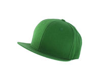 Green cap with clipping path Stock Images