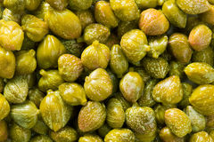 Green capers background Royalty Free Stock Image