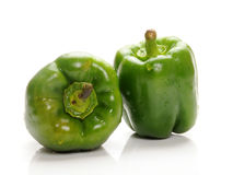 Green capsicum. On white background royalty free stock photo