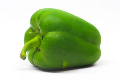 Green Capsicum. Isolated on white background stock image