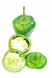 Green capsicums Royalty Free Stock Images