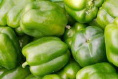 Green capsicums Royalty Free Stock Photography