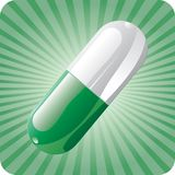 Green capsule Stock Photography