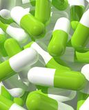 Green capsules Stock Photography