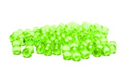 Green capsules Stock Photo