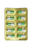 Green capsules Stock Images