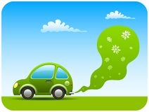Green car. Green environment friendly car with non pollutant emissions Stock Images