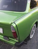Green car. Seen from rear Royalty Free Stock Photography