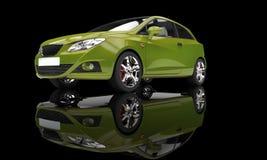 Green Car Stock Image