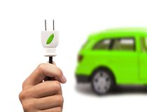 Green car concept Royalty Free Stock Photo