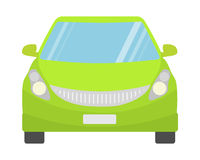 Green car front view. Royalty Free Stock Photography