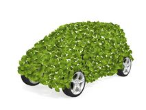 Green Car II. Environmentally Friendly Car. Go Green- concept image. 3D image vector illustration
