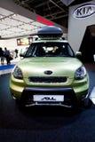 Green car Kia Soul Stock Photos