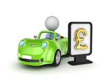 Green car and lightbox with golden dollar sign. Stock Photography