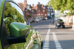 Green car mirror Stock Images