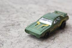 Green car model. Toys: green car model. Vintage Royalty Free Stock Photos