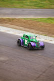 Green car with purple fenders Stock Photography