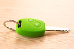 Green car remote key Royalty Free Stock Image