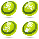 Green car sign in 3D. Green car sign collection in 3D Royalty Free Stock Images