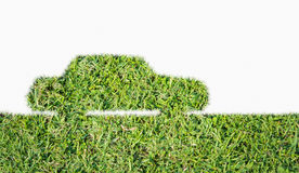 Green Car symbol from grass isolated Stock Image