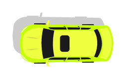 Green Car Top View Flat Design Vector Illustration Royalty Free Stock Photography