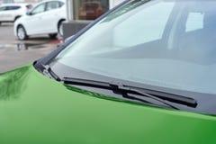 Green car wipers Stock Photos