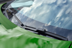 Green car wipers Stock Images