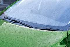 Green car wipers Stock Image