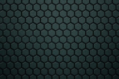 Green carbon fiber hexagon pattern. Background and texture. 3d illustration Stock Image