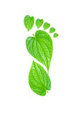 Green Carbon Foot Print Concept Royalty Free Stock Images
