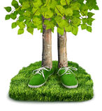Green carbon footprint concept Royalty Free Stock Images