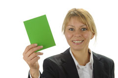 Green card Stock Image